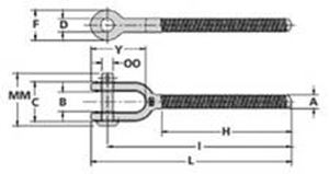 Jaw End Fitting Specifications - HG-4037