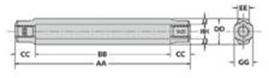 Picture of Turnbuckle Body Only Specifications - HG-2510