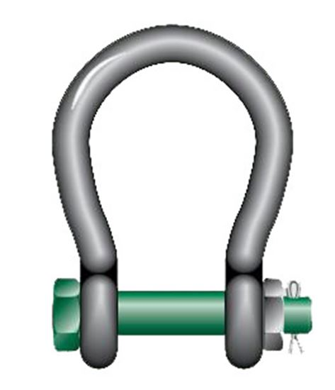 Picture of Van Beest® G-4263 Screw Pin Wide Mouth Shackles with Bolt, Nut and Cotter