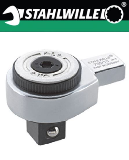 Picture of Stahlwille 735 - Ratchet Insert - Fine Tooth (9x12)
