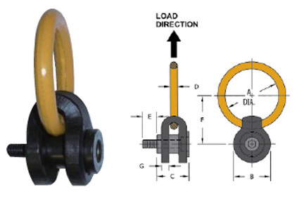 Hoist Ring Image and Diagram